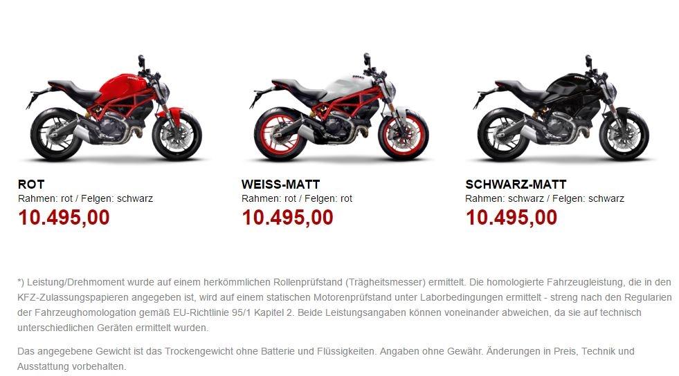 EICMA 2016: Ducati Monster 797 der sportliche Einstieg in die Marke ...
